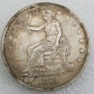 1 Pcs US 1874 Seated Liberty Trade Dollar Copy Coin