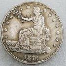 1 Pcs US 1876-CC Seated Liberty Trade Dollar Copy Coin