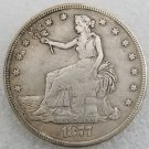 1 Pcs US 1877-CC Seated Liberty Trade Dollar Copy Coin
