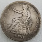 1 Pcs US 1878 Seated Liberty Trade Dollar Copy Coin