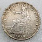 1 Pcs US 1878-S Seated Liberty Trade Dollar Copy Coin