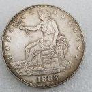 1 Pcs US 1883 Seated Liberty Trade Dollar Copy Coin