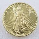 1 Pcs US 1927-D Saint Gaudens Double Eagle Twenty Dollars Golden Copy Coin