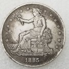 1 Pcs US 1885-S Seated Liberty Trade Dollar Copy Coin
