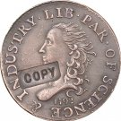 1 Pcs 1792 liberty parent of science & Industry half dimse copy coin  for collection