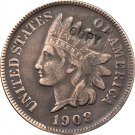 1 Pcs 1908 Indian head one cents copy coin  for collection
