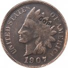 1 Pcs 1907 Indian head one cents copy coin  for collection