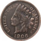 1 Pcs 1906 Indian head one cents copy coin  for collection