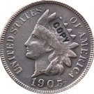 1 Pcs 1905 Indian head one cents copy coin  for collection