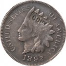 1 Pcs 1892 Indian head one cents copy coin for collection