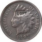 1 Pcs 1891 Indian head one cents copy coin for collection
