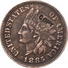 1 Pcs 1885 Indian head one cents copy coin for collection