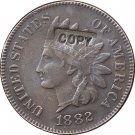 1 Pcs 1882 Indian head one cents copy coin for collection