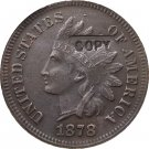 1 Pcs 1878 Indian head one cents copy coin for collection