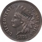 1 Pcs 1876 Indian head one cents copy coin for collection