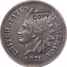 1 Pcs 1874 Indian head one cents copy coin for collection