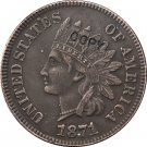 1 Pcs 1871 Indian head one cents copy coin for collection