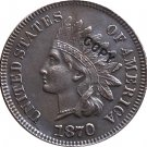 1 Pcs 1870 Indian head one cents copy coin for collection