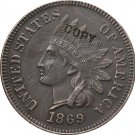 1 Pcs 1869 Indian head one cents copy coin for collection