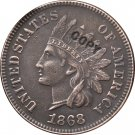 1 Pcs 1868 Indian head one cents copy coin for collection