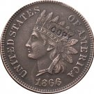 1 Pcs 1866 Indian head one cents copy coin for collection
