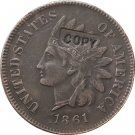 1 Pcs 1861 Indian head one cents copy coin for collection