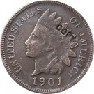 1 Pcs 1901 Indian head one cents copy coin for collection