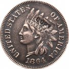 1 Pcs 1864 Indian head one cents copy coin for collection