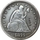 1 Pcs 1875-CC United States Seated Liberty Twenty Cent Copy Coin  For Collection