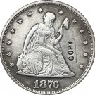 1 Pcs 1876-CC United States Seated Liberty Twenty Cent Copy Coin  For Collection