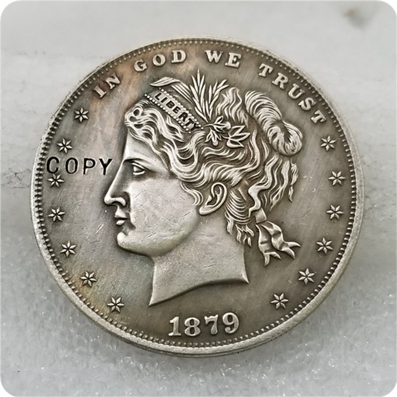 "US 1879 Metric ""Hair-In-Bun"" $1 Dollar Patterns Copy Coin  For Collection"