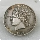 """US 1879 Metric """"Hair-In-Bun"""" $1 Dollar Patterns Copy Coin  For Collection"""