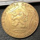 1978 Exonumia ** - Bullion - Czechoslovakia 10 Dukatu Charles IV Gold Token Copy 42mm