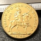 1749 Denmark 1 Dukat-Fredrik V 22K Gold Plated Copy Coin