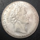 1828 Kingdom of Bavaria 1 Geschichtsthaler-Ludwing I blessing of heaven Silver Plated Copy Coin