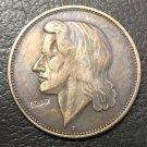 1926 Germany 5 Reichsmark Friedrich von Schiller Trial Strike Copy Coin