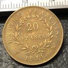 1814 France 20 Francs Copy Gold Coin