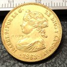 1868 Spain 10 Escudos-Isabel II Gold Copy Coin