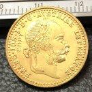 1915 Austria-Habsburg 1 Ducat-Franz-Joseph I Gold Copy Coin