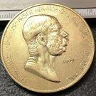 1908 Austria - Habsburg 100 Corona - Franz Joseph I Reign Gold Plated Copy Coin