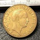 1937 Albania 20 Franga Ari-Zog I 25th Anniversary of Independence Gold Copy Coin