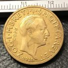 1938 Albania 20 Franga Ari-Zog I Gold Plated Copy Coin