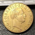 1938 Albania 50 Franga Ari-Zog I Gold Copy Coin