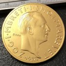 1937 Albania 100 Franga Ari-Zog I 25th Anniversary of Independence Gold Copy Coin