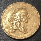 1672 England 5 Guineas - Charles II .9999 pure Gold Plated Copy Coin
