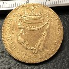 1693 Ireland 1/2 Penny-William & Mary copper Copy Coin