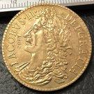 1689 Ireland 30 Pence-James II Gun Money Brass Metal Copy Coin