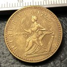 1723 Ireland 1 Farthing-George I Copper Metal Copy Coin