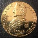 1842 La Rioja 8 Escudos Gold Copy Coin 33mm