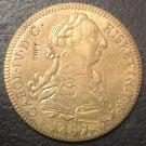 1789 Colombia 8 Escudos - Carlos III Gold Copy Coin